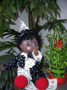 Adorable Clown noir plus de 30 ans